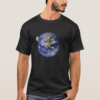 The Earth, from space - with moonrise T-Shirt
