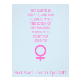 The Earth is Female 21.5 Cm X 28 Cm Flyer
