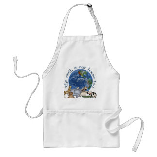 The Earth Is Our House Too Apron