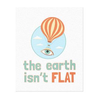 """The Earth Isn't Flat"" Eyeball Balloon Canvas"