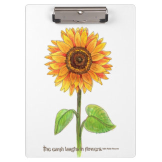 """The earth laughs in flowers"" Clipboard"