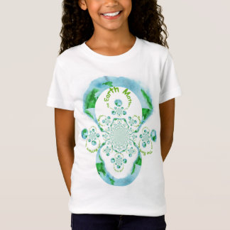 The Earth Matters Girls' Jersey White T-Shirt