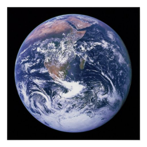 The Earth Seen From Apollo 17 aka The Blue Marble Posters