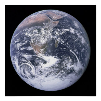 The Earth seen from Apollo 17 Poster