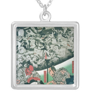The Earth Spider Silver Plated Necklace