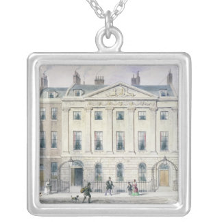 The East front of Skinners' Hall, 1851 Silver Plated Necklace