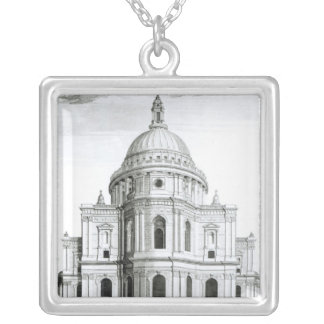 The East Prospect of St. Paul's Cathedral Silver Plated Necklace