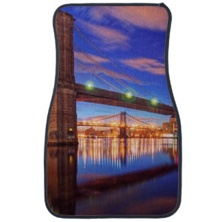 The East River, Brooklyn Bridge, Manhattan Car Mat