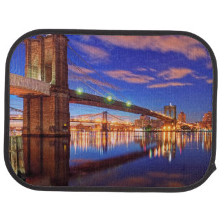 The East River, Brooklyn Bridge, Manhattan Car Mat
