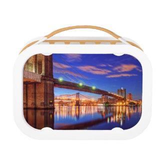 The East River, Brooklyn Bridge, Manhattan Lunch Box