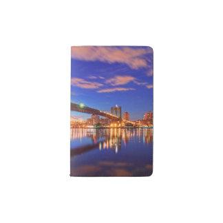 The East River, Brooklyn Bridge, Manhattan Pocket Moleskine Notebook