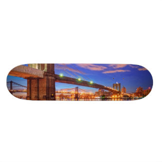 The East River, Brooklyn Bridge, Manhattan Skateboard Deck