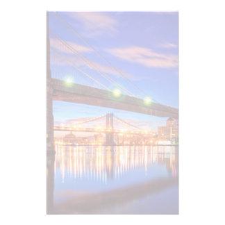 The East River, Brooklyn Bridge, Manhattan Stationery