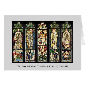 The East Window, Troutbeck Church, Cumbria Card