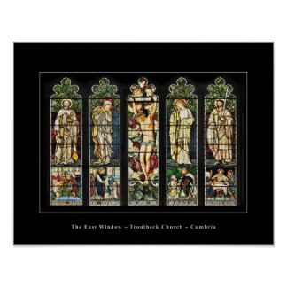 The East Window, Troutbeck Church, Cumbria poster