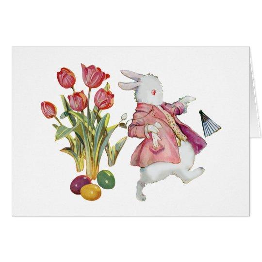 The Easter Bunny Runs Away Card