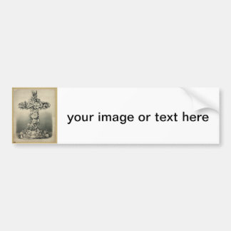 The Easter Cross by Currier & Ives 1869 Bumper Sticker
