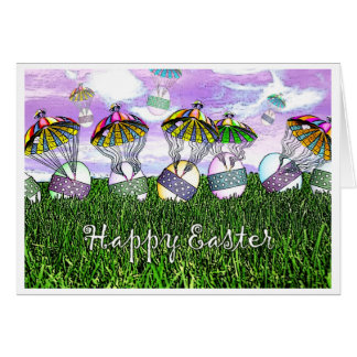The Easter Eggs Have Landed! Greeting Card