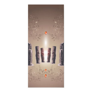 "The Easter Island 4"" X 9.25"" Invitation Card"