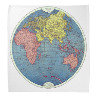 The Eastern Hemisphere Vintage Map Bandanna