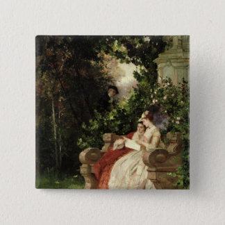 The Eavesdropper, 1868 15 Cm Square Badge