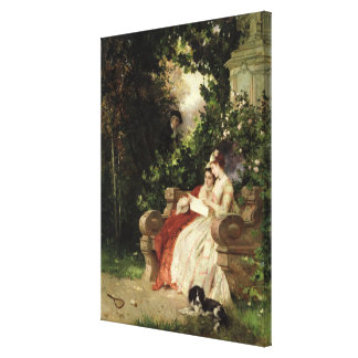 The Eavesdropper, 1868 Canvas Print