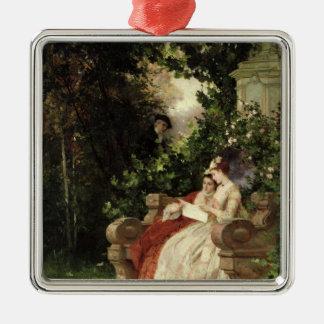 The Eavesdropper, 1868 Christmas Ornament