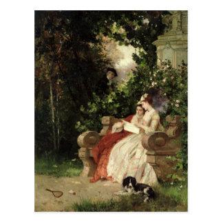 The Eavesdropper, 1868 Postcard