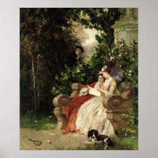 The Eavesdropper, 1868 Poster