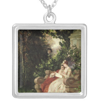 The Eavesdropper, 1868 Silver Plated Necklace