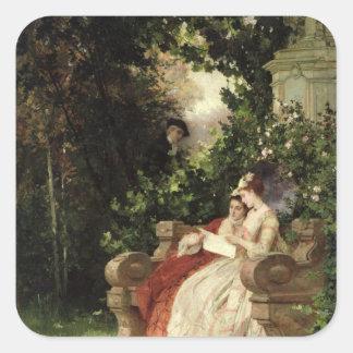 The Eavesdropper, 1868 Square Sticker