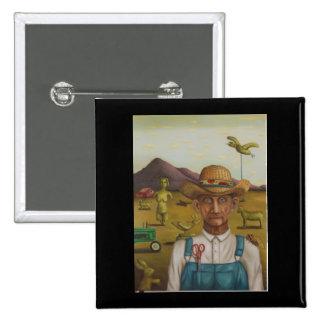 The Eccentric Farmer 15 Cm Square Badge