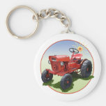 The Economy Tractor Basic Round Button Key Ring