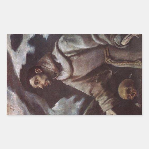 'The Ecstasy of St. Francis' Rectangular Sticker