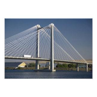 The Ed Hendler Bridge spans the Columbia River Art Photo