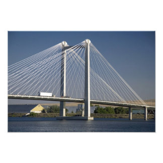 The Ed Hendler Bridge spans the Columbia River Photo Print