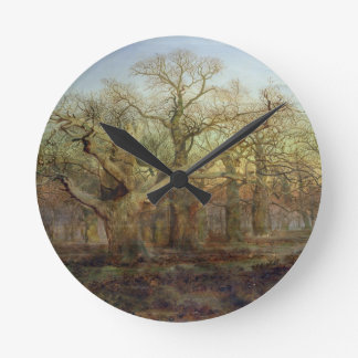 The Edge of Sherwood Forest, 1878 Round Clock