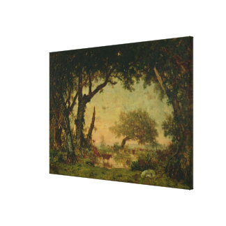The Edge of the Forest at Fontainebleau Canvas Print