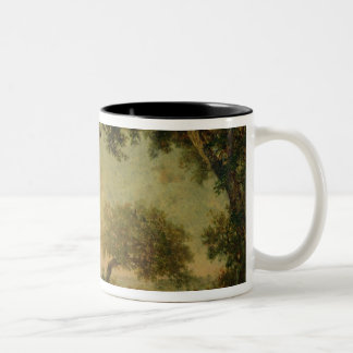 The Edge of the Forest at Fontainebleau Two-Tone Coffee Mug