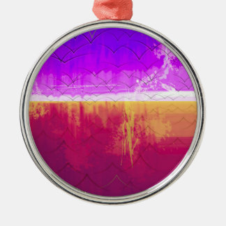 The Edge of the World 2014 Silver-Colored Round Decoration