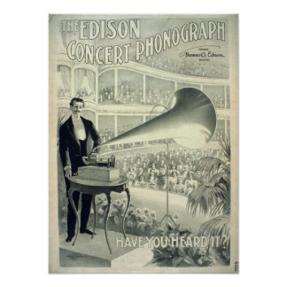 The Edison concert phonograph. Posters