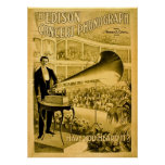 The Edison Concert Phonograph Vintage Advert Posters