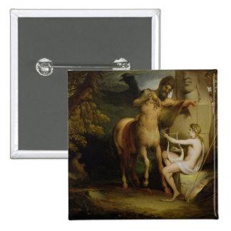 The Education of Achilles, c.1772 (oil on canvas) 15 Cm Square Badge