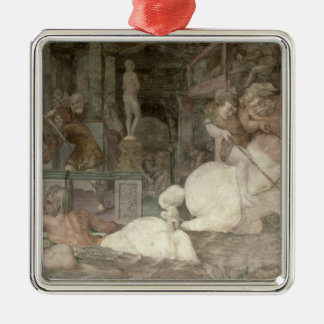The Education of Achilles Silver-Colored Square Decoration