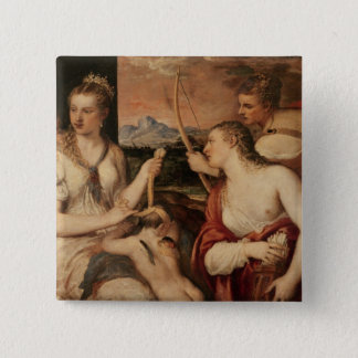 The Education of Cupid, c.1565 15 Cm Square Badge