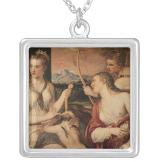 The Education of Cupid, c.1565 Silver Plated Necklace
