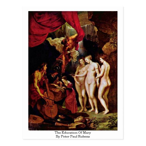 The Education Of Mary By Peter Paul Rubens Post Cards