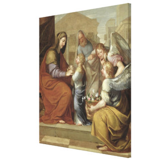 The Education of the Virgin, 1658 Canvas Print