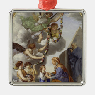The Education of the Virgin Silver-Colored Square Decoration