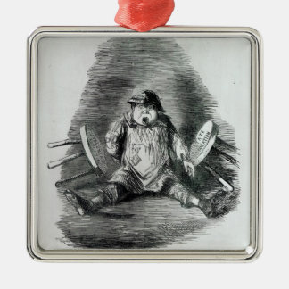 The Educational Question' Silver-Colored Square Decoration